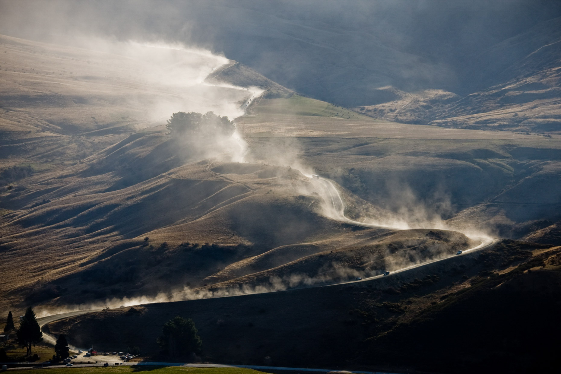Cardrona ski feild access road at the end of the day... - Wanaka