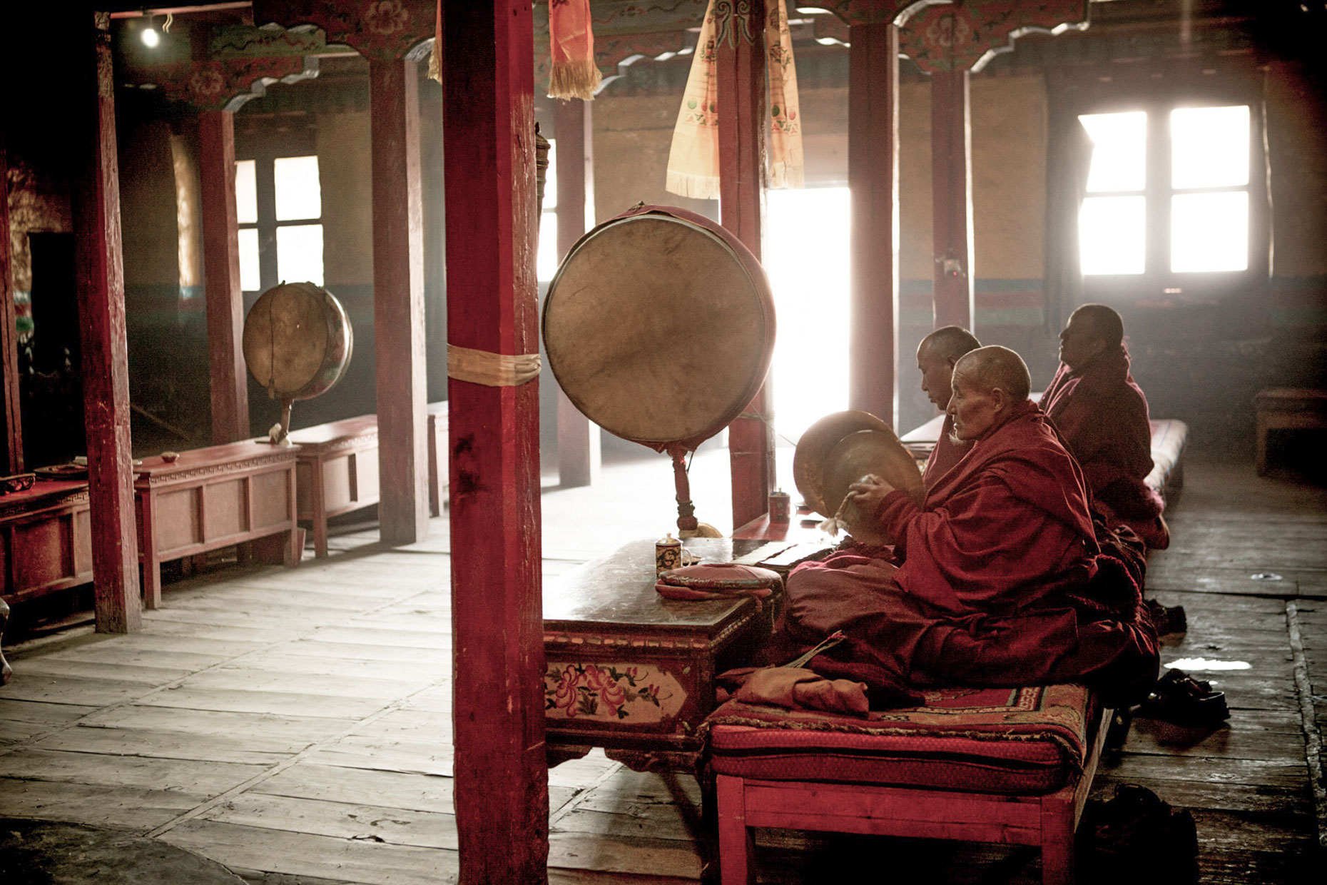 Buddhist Monks in the Upper Mustang, Nepal